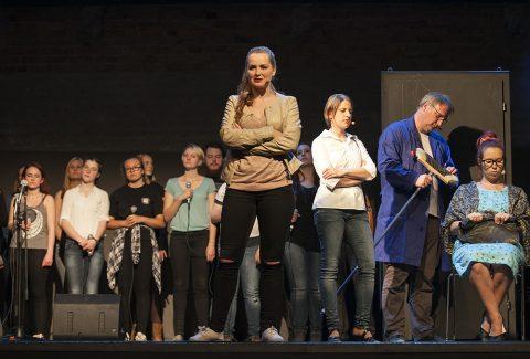 """""""Respekt"""" auf der Bühne in Sankt Peter. Foto: Ilona Surrey"""