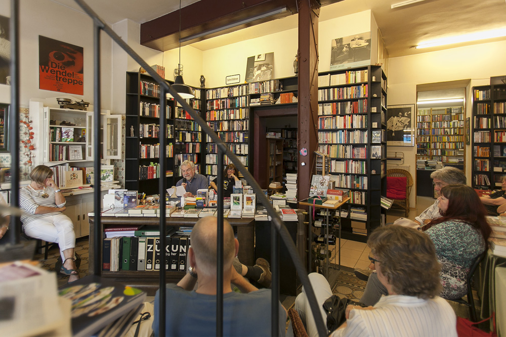 Lesung in der Krimibuchhandlung Wendeltreppe. Foto: Ilona Surrey