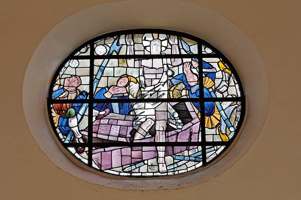 Rundfenster von Charles Crodel aus der Jakobskirche in Bockenheim. Foto: Rui Camillo