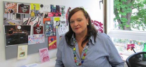 Fabienne Zwankhuizen berät für die Diakonie Frankfurt Frauen rund um das Thema Prostitution. Foto: Peter Krauch.