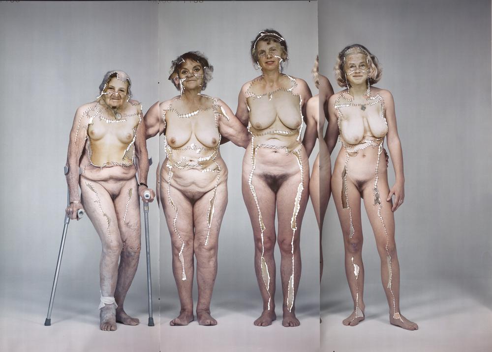 """""""Transgenerativ"""": In dieser Collage mischte die Künstlerin Annegret Soltau die Körper von vier Generationen ihrer Familie: den eigenen, den ihrer Tochter, ihrer Mutter und ihrer Großmutter. Fotos mit frdl. Genehmigung der Künstlerin."""