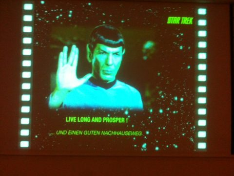 """Eher ein Außerirdischer auf der Kommandobrücke als eine Frau, aber ansonsten eine Serie mit Visionen: Mister Spock vom """"Raumschiff Enterprise"""". Foto: Silke Kirch"""